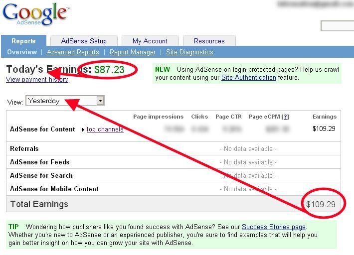 cuanto gane con google adsense en [mkyearplus months=